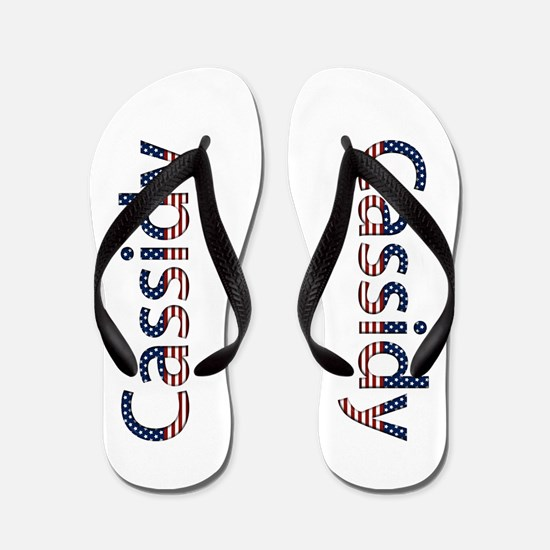 Cassidy Stars and Stripes Flip Flops