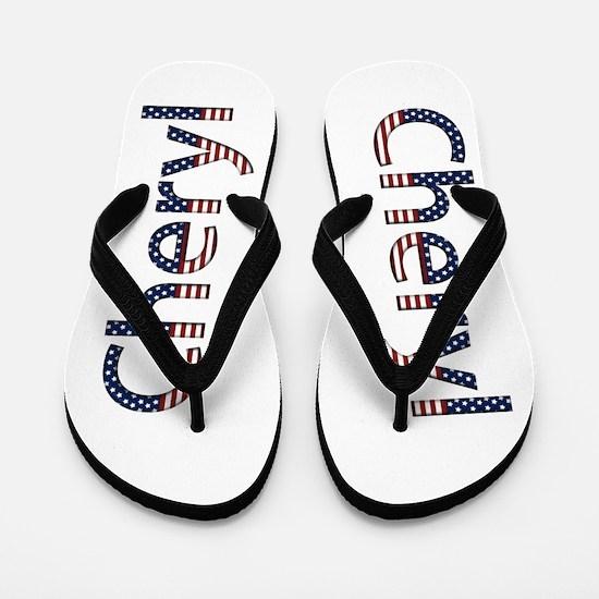 Cheryl Stars and Stripes Flip Flops