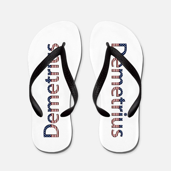 Demetrius Stars and Stripes Flip Flops