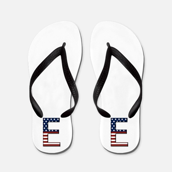 E Stars and Stripes Flip Flops