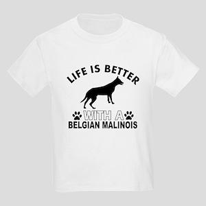 Belgian Malinois vector designs Kids Light T-Shirt