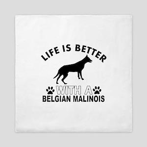Belgian Malinois vector designs Queen Duvet