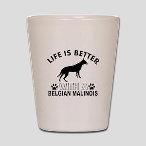 Belgian Malinois vector designs Shot Glass