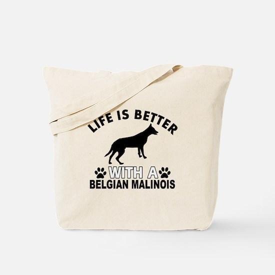 Belgian Malinois vector designs Tote Bag