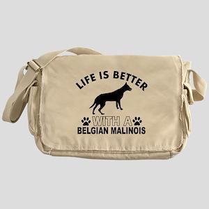 Belgian Malinois vector designs Messenger Bag