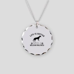 Belgian Malinois vector designs Necklace Circle Ch