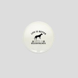 Belgian Malinois vector designs Mini Button
