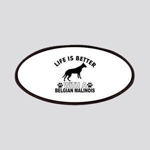 Belgian Malinois vector designs Patches
