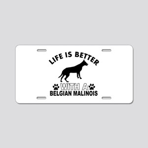 Belgian Malinois vector designs Aluminum License P