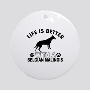 Belgian Malinois vector designs Ornament (Round)