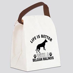 Belgian Malinois vector designs Canvas Lunch Bag