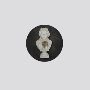 BeethovenonBlackCircle Mini Button