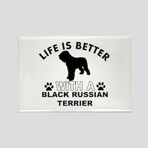 Black Russian Terrier vector designs Rectangle Mag