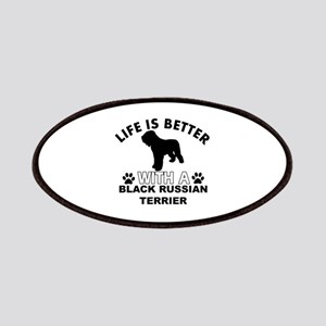 Black Russian Terrier vector designs Patches