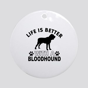 Bloodhound vector designs Ornament (Round)