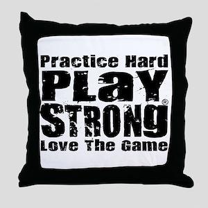 Play Strong Workout Throw Pillow
