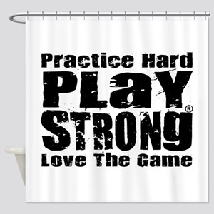 Play Strong Workout Shower Curtain