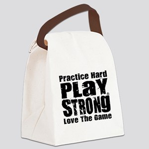 Play Strong Workout Canvas Lunch Bag