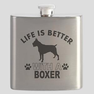 Boxer vector designs Flask