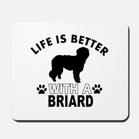 Briard vector designs Mousepad
