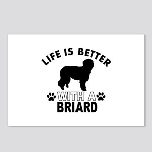 Briard vector designs Postcards (Package of 8)