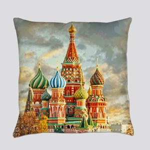Kremlin Moscow Russia St Basel Everyday Pillow
