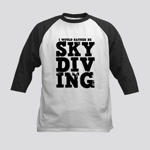 'Rather Be Skydiving' Kids Baseball Jersey