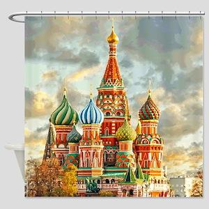 Kremlin Moscow Russia St Basel Shower Curtain