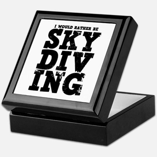 'Rather Be Skydiving' Keepsake Box