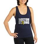 Boston Strong Ribbon Racerback Tank Top