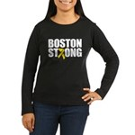 Boston Strong Ribbon Long Sleeve T-Shirt