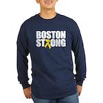 Boston Strong Ribbon Long Sleeve T-Shirt