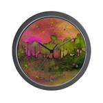 The Woods II Magenta Wall Clock