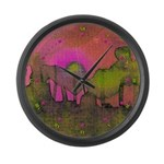 The Woods II Magenta Large Wall Clock
