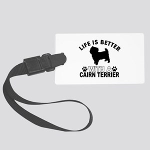 Cairn Terrier vector designs Large Luggage Tag