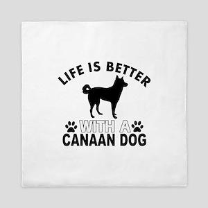 Canaan Dog vector designs Queen Duvet