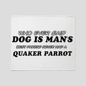 Quaker Parrot designs Throw Blanket