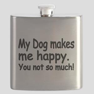 My Dog makes me Happy Flask