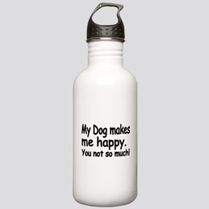 My Dog makes me Happy Water Bottle
