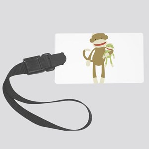 Sock monkey with baby Luggage Tag