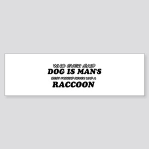 Raccoon designs Sticker (Bumper)