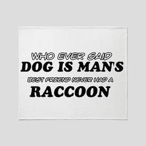 Raccoon designs Throw Blanket