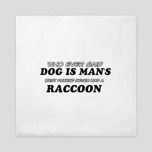 Raccoon designs Queen Duvet