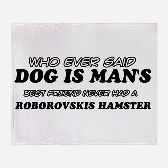Roborovskis Hamster designs Throw Blanket