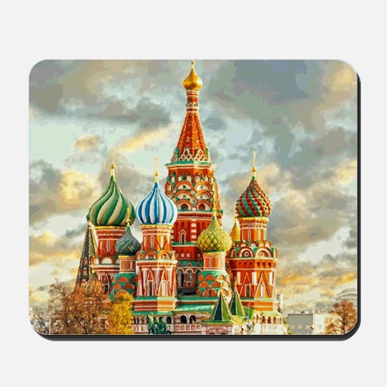 Kremlin Moscow Russia St Basel Mousepad