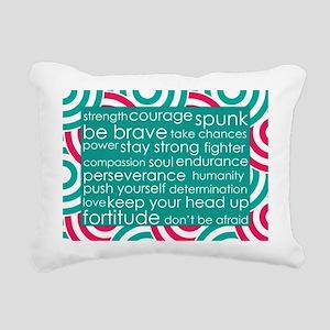 Stay Strong Rectangular Canvas Pillow