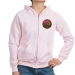 The Woods II Magenta Women's Zip Hoodie