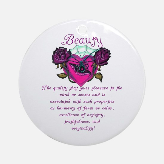 Beauty Is In The Heart Ornament (Round)