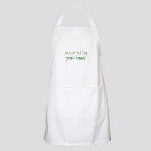 Powered By green beans BBQ Apron
