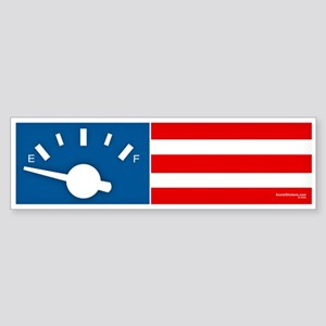 """America on Empty"" Bumper Sticker"